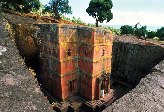 Rock hewn churches of Lalibela, UNESCO World Heritage Site, Ethiopia