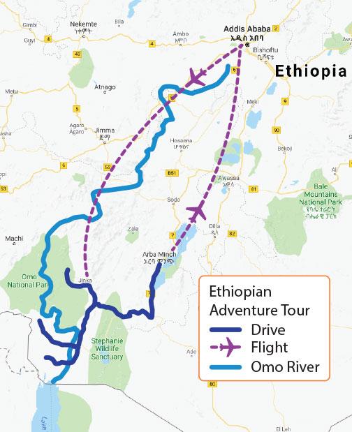 Tour travel to Omo River Valley in Ethiopian with Ethiopian